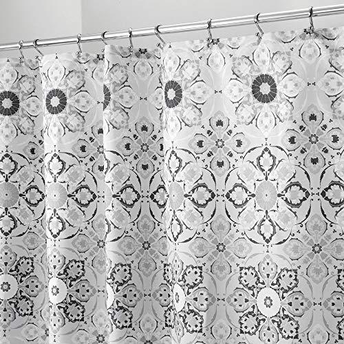 mDesign Tenda per Doccia Antimuffa con motivo orientale - Ideale Accessorio da Bagno - 183 cm x 183 cm