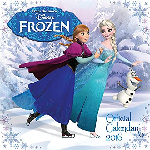 Calendrier Chinois 2016 - The Official Disney Frozen 2016 Square