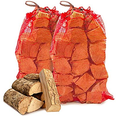 20 kg of THE CHEMICAL HUT® Quality Seasoned Dried Softwood Wooden Logs for Firewood, Open Fire & Stoves. Comes with THE LOG HUT® Woven Sack.