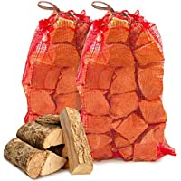 20 kg of The Chemical Hut Quality Seasoned Dried Softwood Wooden Logs for Firewood, Open Fire and Stoves. Comes with The Log Hut Woven Sack.