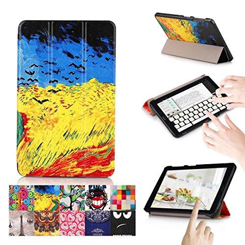 Preisvergleich Produktbild Galaxy Tab A 10.1 Hülle, [Mehrfachwinkelstand Stand ] Prämie Ultra Schlank 3-Faltende PU-Lederbezug mit Rückwand Flip Folio Fall für Samsung Galaxy Tab A 10.1-Zoll 2016 tablet / SM-T580/ SM-T585