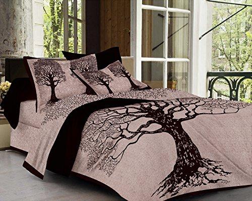 SheetKart Tree Of Life 144 TC Cotton Bedsheet