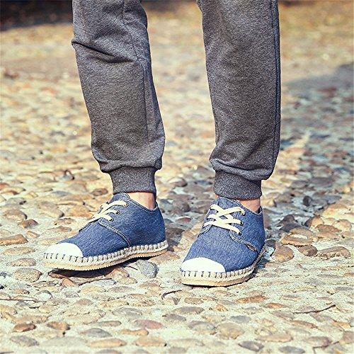 uomini espadrilli, moda casual, espadrilli uomini grandi metri di tela scarpe blue