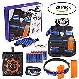 Kit de Chaleco Táctico,niceEshop(TM) Chaleco Tela de Nylon Ajustable con Dardos de Espuma para Pistolas Perfecto para Niños Juego de Lucha de Nerf (Kit de Chaleco Táctico)