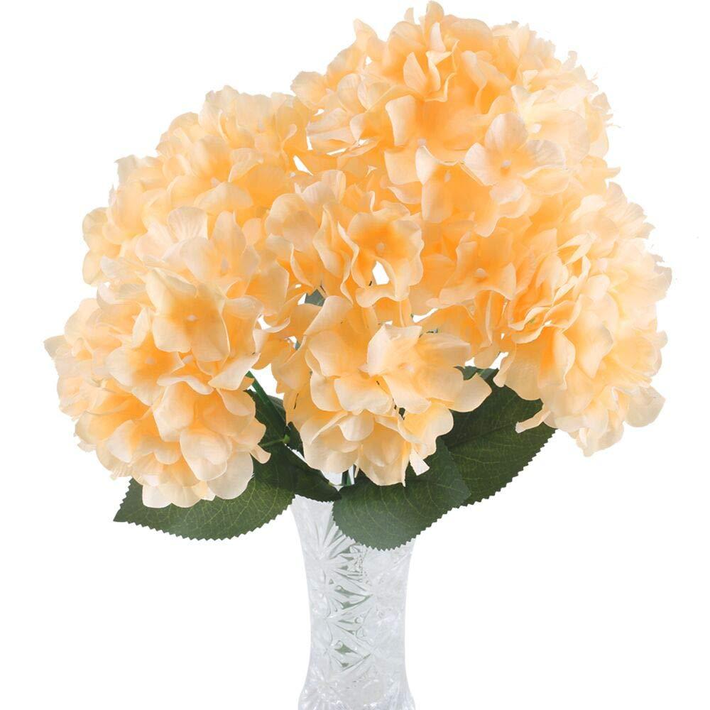 Huaesin Flores Artificiales Decoración Jarrones Ramo De Flores Hortensia Artificial 6 Cabezas Ramo De Boda Exterior Y Interior Para Fiesta Cumpleaños
