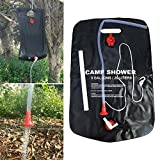 Best Solar Showers - Solar Shower 5Gallons/20Liters Portable Solar Heated Shower Camping Review