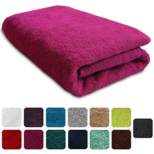 Lanudo Luxus Duschtuch 600g/m² Pure Line 70x140 mit Bordüre. 100% feinste Frottier Baumwolle in höchster Qualität, Dusch-Handtuch,...