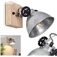 Applique Svanfolk en métal aspect acier brossé et bois, spot orientable au style rétro pour une ampoule E14, max. 40…