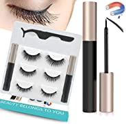 Upgraded Magnetic Eyeliner and Lashes, Magnetic Eyelashes with Eyeliner Kit, 3 Styles Magnetic Lashes, Reusable Silk False M