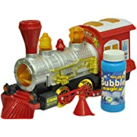 New Pinch Bubble Blowing Toy Train Constant Motion & Automatic Change of Direction Powered Steam Bubbles Locomotive…