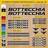 Adesivi Bici BOTTECCHIA_kit 2_ Kit adesivi stickers 22 Pezzi -SCEGLI SUBITO COLORE- bike cycle pegatina Cod.0847 (070 NERO)