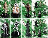 Star Wars FORCE AWAKENS Ensemble d'ornement pour sapin de Noël de 6 pièces mettant en vedette Kylo Ren, BB-8, le capitaine Phasma, Finn, Rey et Flametrooper