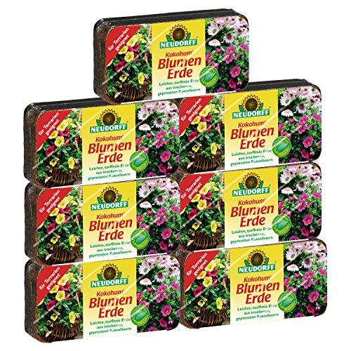 Neudorff 00272 Kokohum Blumen Erde Brikett, 7 Stück