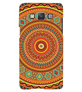 ColourCraft Tribal Pattern Design Back Case Cover for SAMSUNG GALAXY A7
