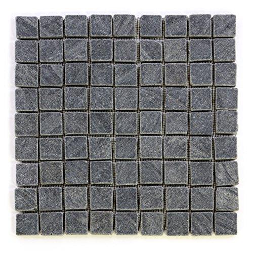 ten Naturstein Mosaikfliesen aus Andesit für Wand und Boden grau á 29 x 29 cm ()