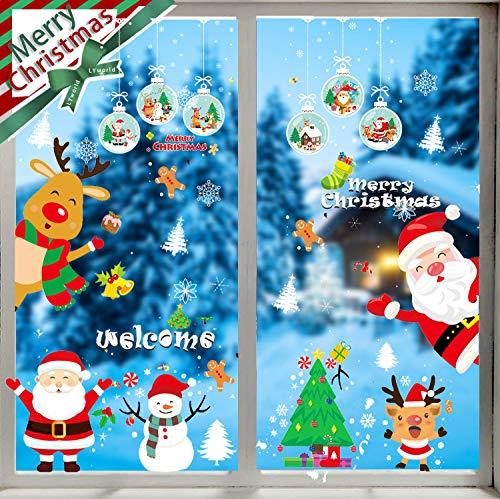 LYworld Navidad Pegatina Pared Tienda De Ventana Pegatinas
