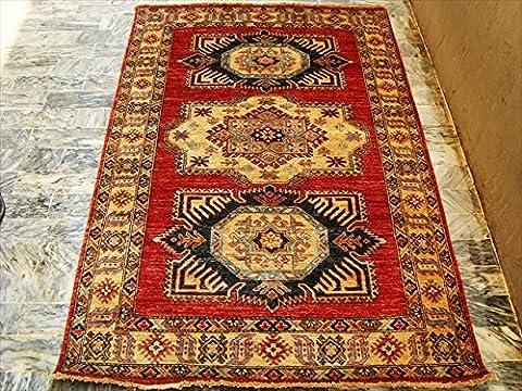 Super Kazak Cauca) Marke neue Traditionell designte Veg Bunte gefärbt handgeknotet Orient Teppich Teppich 6.0x 4.3Fuß