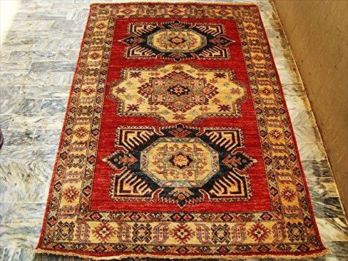 super-kazak-cauca-nuovissimo-tradizionale-progettato-multicolore-veg-orientale-tappeto-annodato-a-ma