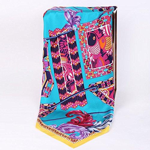 TUNBG Damen Schal aus Seide mit Blumenmuster, 1 -