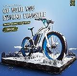Unbekannt Rich BIT Elektrofahrrad RT022 / RT012 Fett E-Bike 26 Zoll LCD Smart Fahrrad MTB Mechanische Scheibenbremse Shimano 21-Fach E-Bike Herren