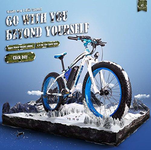 RICH BIT RT-012 E-Bike Elektrisches Fahrrad 26 Zoll 4.0 Fat Reifen Snow Bike Elektrisches Fahrrad ebike 1000W Hochleistungsmotor 48V * 17Ah Hochleistungs-Lithium-Batterie Hohe Lebensdauer 21 Geschwindigkeit Shimano Scheibenbremse Tachometer