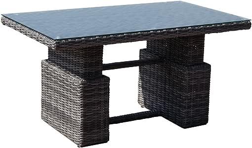 greemotion Rattan Table Bari - Height Adjustable Outdoor ...