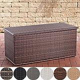 CLP Polyrattan Auflagenbox Comfy l Gartentruhe für Kissen und Auflagen l in Verschiedenen Farben und Größen erhältlich 150, Braun Meliert