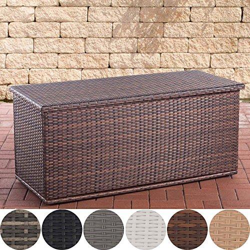 CLP Polyrattan Auflagenbox Comfy l Gartentruhe für Kissen und Auflagen l Größen erhältlich 150, Braun Meliert