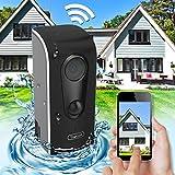 HaWoTEC Wasserdichte WiFi WLAN W-LAN IP Kamera Überwachungskamera mit Akku Batterie 90 Tage Laufzeit PIR Bewegungserkennung für Innen und Aussen