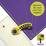 OfficeTree® Set Tappetino da Taglio - 90x60 cm (A1) Rosa + taglierina Circolare + Righello da 60x16 cm - qualità Premium - per lavori di Taglio Professionali