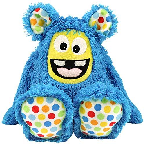 kullaloo Näh-Set Selber Machen: Zottel Monster MemoMonsti inkl. Schnittmuster in blau und in schicker Dose Materialset, Stoffpaket, Minky, 10,5 x 10,5 x 31 cm