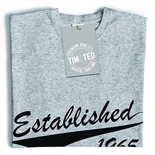 Tim and Ted Compleanno Maglia delle Donne Fondata Logo Regalo 1965 Designer Presente Personal Black