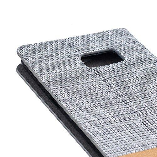 Sunrive® Für iPhone 7,Magnetisch Schaltfläche Ledertasche Schutzhülle Etui Hülle Leder mit Standfunktion Cover Tasche Case Handyhülle Kartenfächer Kreditkarte Taschen Schalen Handy Tasche Flip Wallet  blanco