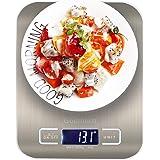 Godmorn Balance De Cuisine Électronique, Balance Alimentaire Numérique Fonction Tare Haute Précision 5kg/1g, Disponible (g/ML/Oz/LB.oz), Acier Inoxdable Tactile Écran LCD Rétroéclairé Auto-arrêt