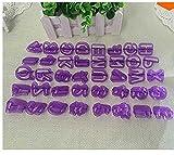NiceButy 40 pcs alfabeto Cartas cortador de Fondant molde para galletas
