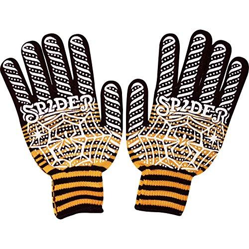 Schwarz Orange Weiß Spider Warm Winter Handschuhe Baumwolle Fußball Running Golf Arbeit