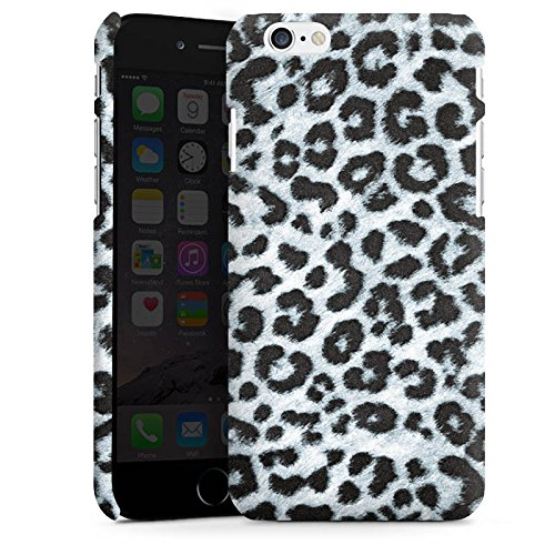 Apple iPhone X Silikon Hülle Case Schutzhülle Leopard Fell Grau Animal Print Premium Case matt