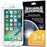 Protector de Pantalla iPhone 7 Plus, Invisible Defender [MAX CLARIDAD] Perfect Touch de precisión de alta definición (HD) Película protectora (4-Pack) para Apple iPhone 7 Plus