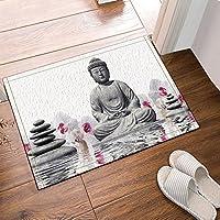Nyngei Statue de Bouddha Zen décor avec de la Pierre dans l eau Tapis de 449aadfd837