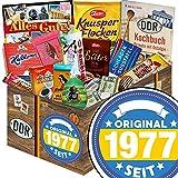 Original seit 1977 | DDR Schokolade Ostpaket | Schokolade Geschenkset L | Zetti Süßtafel, Maulwurf Ei, kalter Hund | Präsentkorb mit Schokolade 40-Geburtstag Geschenke Frauen