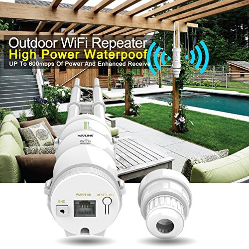 Routeur de Point d'Accès de Répéteur Imperméable à l'Eau Cpe de Wifi de Haute Puissance Imperméable Wisp 2.4ghz 150mbps + 5ghz 433mbps Antenne Omni directionnelle de 1000mw 28 dbm Polarisée Par Double