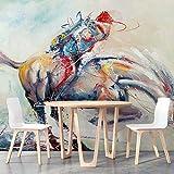 3D Wallpaper Papel Tapiz Para Papel De Pared Grande Del Fondo Del Restaurante Del Restaurante Del Tema De Las Gachas De Avena De La Cazuela Del Vintage, Los 250 * 175Cm