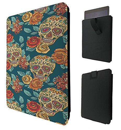299–calaveras Shabby Chic flores rosas azteca para todos Amazon Kindle Fire 8'10' Kindle Fire HD 8'10' HDX 8'10' calidad TPU funda Pull Tab funda de cuero Cover