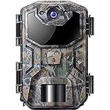 Cámara de Caza Nocturna 20MP 1080P con Diseño Impermeable IP66 Cámara de Fototrampeo con Detección de Acción LED IR Sin Brill