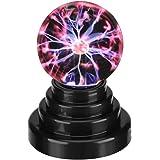 Luz de Bola Creativa Luz de Bola de Plasma Luz Táctil Sensible Globo Cargar USB o con Pilas Lámpara de Escritorio Regalo para
