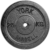 York Fitness HantelscheibenCast Iron Plates, Schwarz, 2418