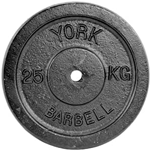 York Fitness 15kg, 20kg and 25kg Single Standard Cast Iron Discs