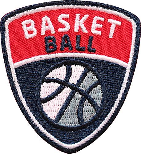 Club of Heroes 2 x Basketball Abzeichen 55 x 60 mm/Basket-Ball Sport Aufnäher Aufbügler Sticker Wappen Patches für Kleidung Mode Tasche Rucksack