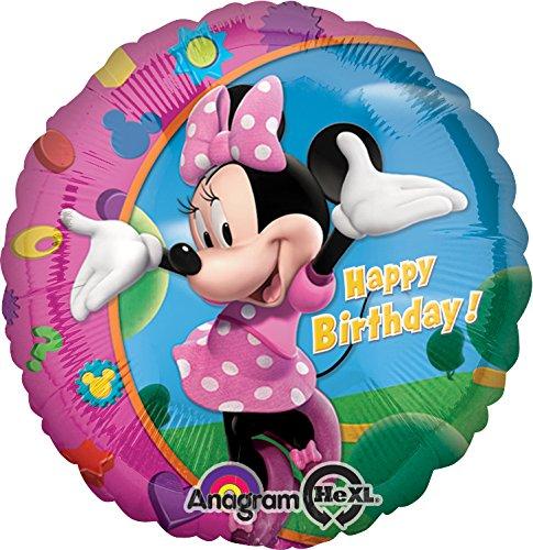 Imagen principal de Amscan Internacional - Minnie globo con las palabras en inglés Feliz Cumpleaños
