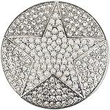 styleBREAKER Damen Magnet Schmuck Anhänger rund mit Perlen Stern und Strass, für Schals, Tücher oder Ponchos, Brosche 05050069, Farbe:Silber